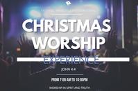 christmas worship Poster template