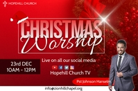 christmas worship experience Plakat template