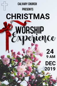 CHRISTMAS WORSHIP EXPERIENCE Poster template