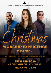 christmas worship flyer