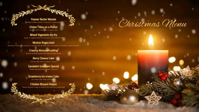 Christmas Xmas menu Facebook template