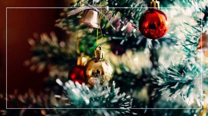 Christmas zoom background Digitalt display (16:9) template