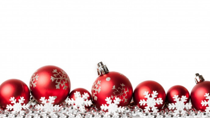 Christmas zoom background design template Presentazione (16:9)