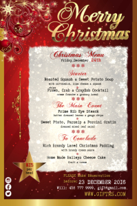 christmas menu similar design templates