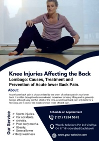 Chronic Knee Pain Video A4 template