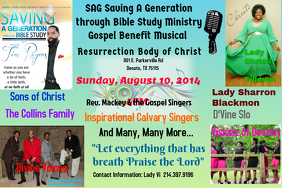 SAG Saving A Generation through Bible Study Ministry Gospel Benefit Musical