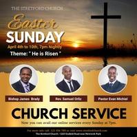 church, Easter, Easter Prayer, Resurrection Instagram-opslag template