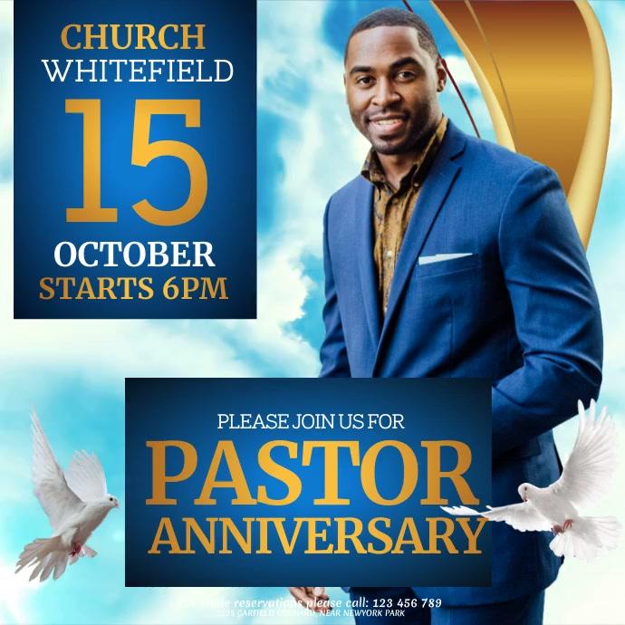 Church, Praise and Worship, revival Persegi (1:1) template