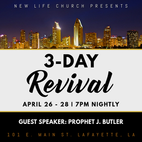 CHURCH 3-DAY REVIVAL FLYER