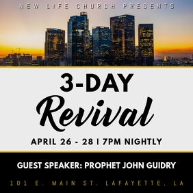 CHURCH 3-DAY REVIVAL FLYER