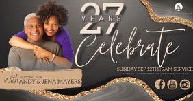 CHURCH ANNIVERSARY BIRTHDAY DESIGN Template Facebook Shared Image
