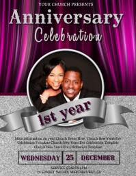 Church Anniversary Celebration Event Template