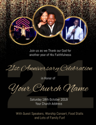Church Anniversary Celebration Event Template Flyer (US Letter)