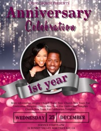 Church Anniversary Celebration Event Template