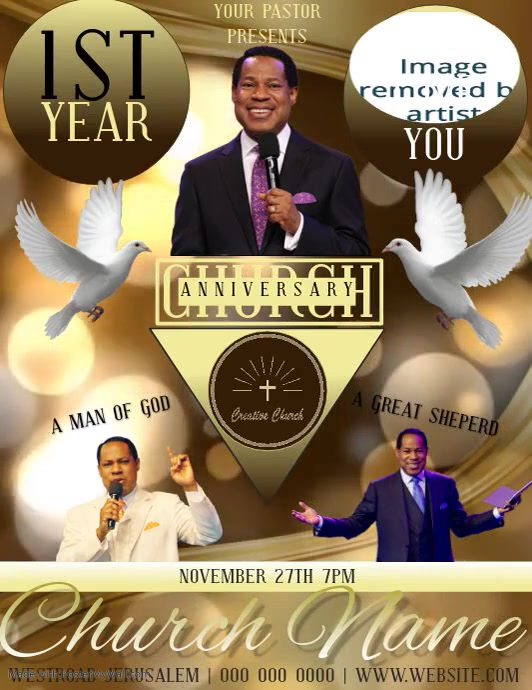 CHURCH ANNIVERSARY conference flyer template
