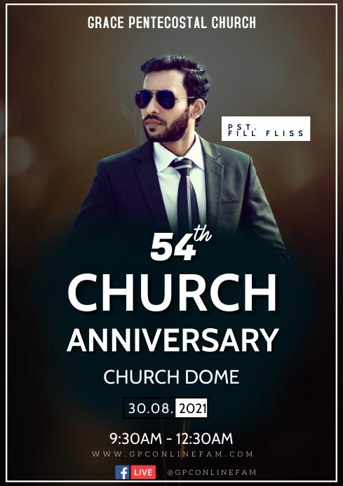 Church Anniversary A3 template