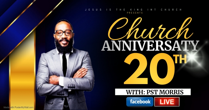 CHURCH ANNIVERSARY Gambar Bersama Facebook template