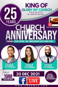 Church Anniversary Poster template