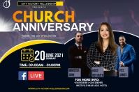 Church Anniversary Etiqueta template