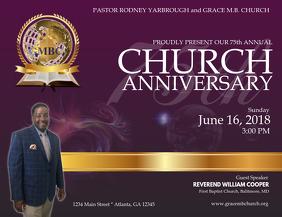 350 Church Anniversary Customizable Design Templates