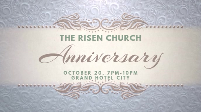 Church Anniversary Digital Display Video