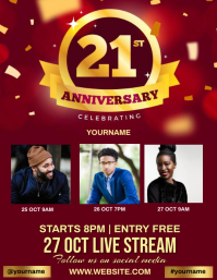CHURCH ANNIVERSARY EVENT design TEMPLATE Flyer (US Letter)
