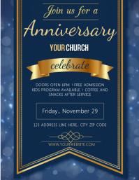 Church Anniversary Event Flyer Template