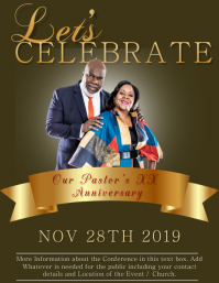 Church Anniversary Event Flyer Template