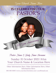 Church Anniversary Event Template Flyer (US Letter)