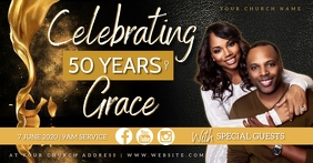 Church Anniversary Event Template Facebook Shared Image