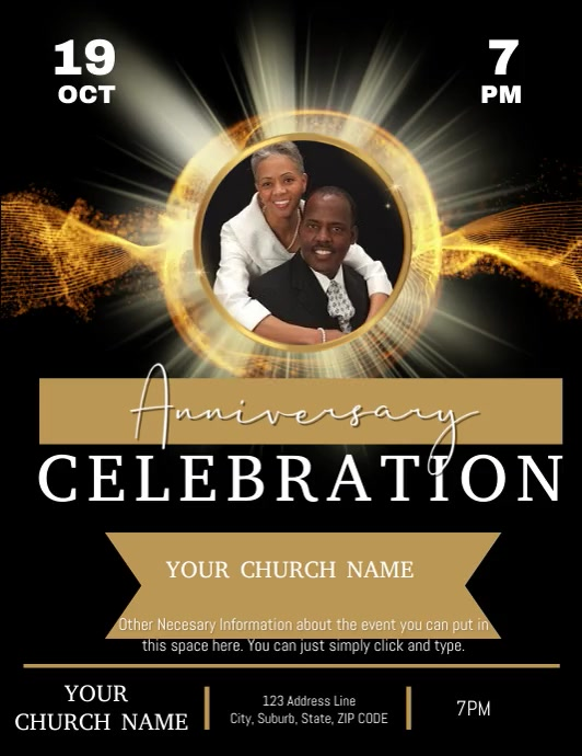 Church Anniversary Event Template