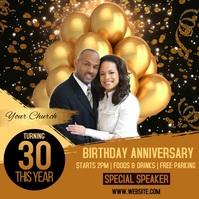 Church Anniversary Event Template Square (1:1)