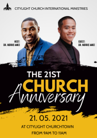 church anniversary flyer A3 template