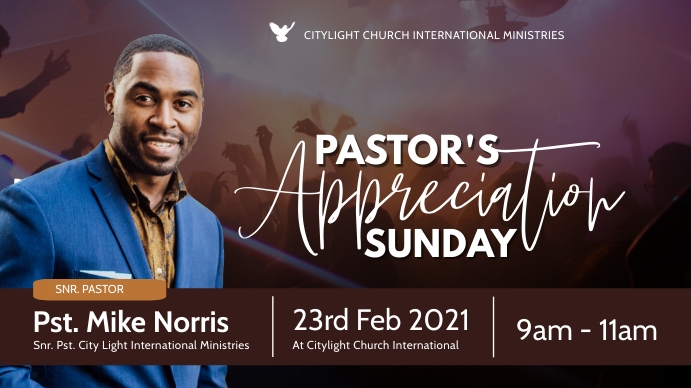 church anniversary flyer Digitale display (16:9) template