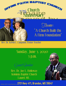 church anniversary flyers