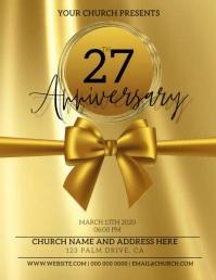 Church Anniversary Flyer Template