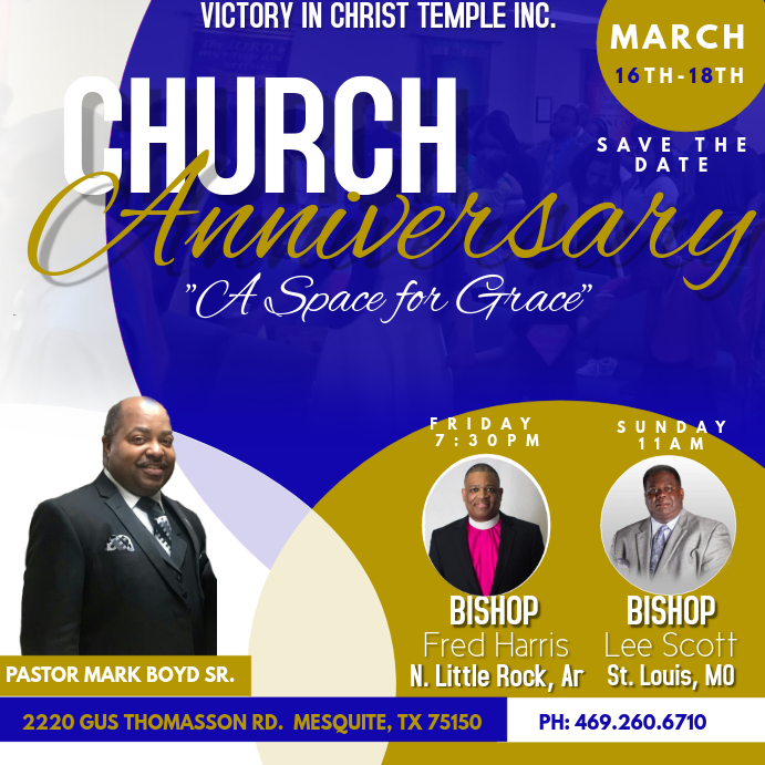Church Anniversary Flyer Template | PosterMyWall