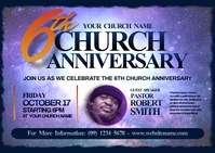 Church Anniversary Postcard template