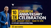 CHURCH ANNIVERSARY POSTER Affichage numérique (16:9) template