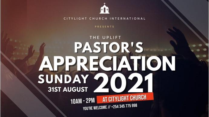 CHURCH ANNIVERSARY POSTER Digitalt display (16:9) template