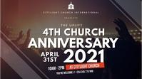 CHURCH ANNIVERSARY POSTER Digital Display (16:9) template