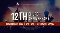 CHURCH ANNIVERSARY POSTER Ecrã digital (16:9) template