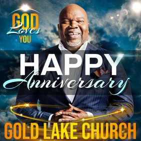church anniversary template instagram