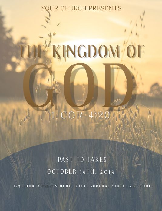 Church Announcement Flyer Template Ulotka (US Letter)