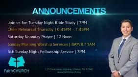 Church Announcements Facebook Cover Video (16:9) template
