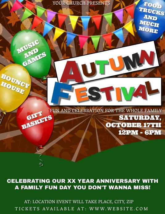 Church Autumn Festival Event Template