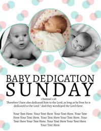 Church Baby Dedication Sunday Template