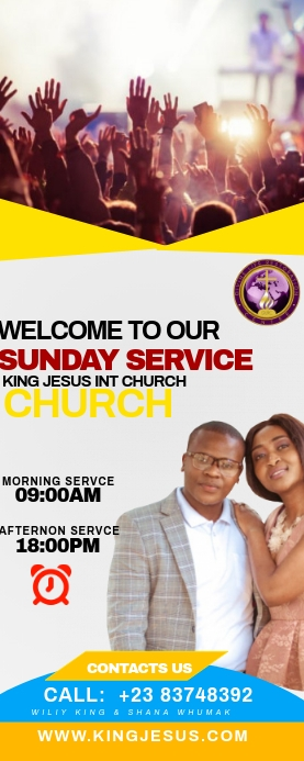 Church banner Oprolbanier 2'×5' template