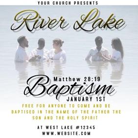 CHURCH BAPTISM AD FLYER TEMPLATE DIGITAL