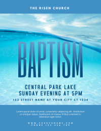 Church Baptism Event Flyer